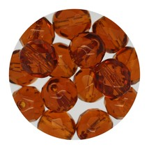 Faceted Fire Polish Beads Czech Glass 8mm Dark Topaz - $7.94