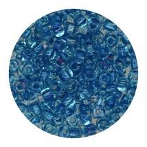 Glass Triangle Bead 8/0 Japan Blue Lined Aqua - $7.94