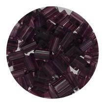 Flat Rectangle Bead Glass 3x5mm Czech Transparent Amethyst - $7.94