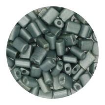Flat Rectangle Bead Glass 3x5mm Czech Metallic Green - $7.94