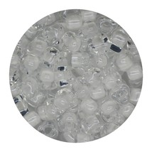 Glass Triangle Bead 5/0 Japan  Lined Crystal White - $7.94