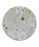 Faceted Fire Polish Beads Czech Glass 8mm Crystal AB - $7.94