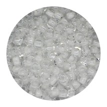 Glass Triangle Bead 8/0 Japan Lined Crystal White - $7.94