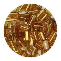 Flat Rectangle Bead Glass 3x5mm Czech Gold Rocaille - $7.94