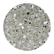 Glass Triangle Bead 8/0 Japan Silver Lined Crystal - $7.94