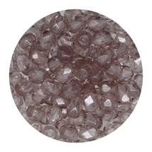 Faceted Fire Polish Beads Czech Glass 4mm Luster  Light Amethyst - $7.94