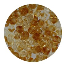 Faceted Fire Polish Beads Czech Glass 4mm Crystal Topaz Ombre - $7.94
