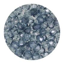 Faceted Fire Polish Beads Czech Glass 4mm Aqua Indigo Decora - $7.94
