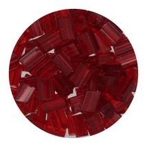 Flat Rectangle Bead Glass 3x5mm Czech Transparent Ruby - $7.94