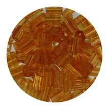 Flat Rectangle Bead Glass 3x5mm Czech Transparent Topaz - $7.94