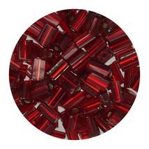 Flat Rectangle Bead Glass 3x5mm Czech Ruby Rocaille - $7.94