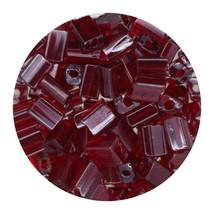 Flat Rectangle Bead Glass 3x5mm Czech Transparent Luster Ruby - $7.94