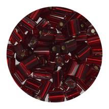 Flat Rectangle Bead Glass 3x5mm Czech Garnet Rocaille - $7.94