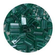 Flat Rectangle Bead Glass 3x5mm Czech Transparent Luster Emerald - $7.94