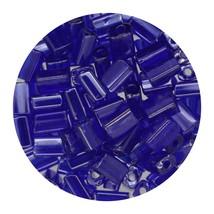 Flat Rectangle Bead Glass 3x5mm Czech Transparent Luster Cobalight - $7.94
