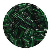 Flat Rectangle Bead Glass 3x5mm Czech Green Rocaille - $7.94