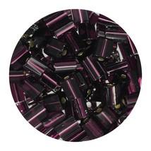 Flat Rectangle Bead Glass 3x5mm Czech Amethyst Rocaille - $7.94