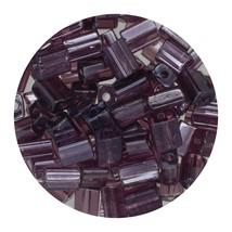 Flat Rectangle Bead Glass 3x5mm Czech Transparent Luster Amethyst - $7.94