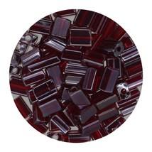 Flat Rectangle Bead Glass 3x5mm Czech Transparent Luster Garnet - $7.94