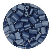 Flat Rectangle Bead Glass 3x5mm Czech Metallic Blue - $7.94