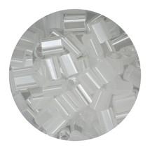 Flat Rectangle Bead Glass 3x5mm Czech Transparent Luster White - $7.94