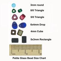 Flat Rectangle Bead Glass 3x5mm Czech Metallic Rose - $7.94