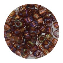 Glass Triangle Bead 5/0 Japan  Transparent Sparkle Topaz Light Amethyst - $7.94