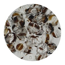 Faceted Fire Polish Beads Czech Glass 6mm Crystal Brown Ombre - $7.94