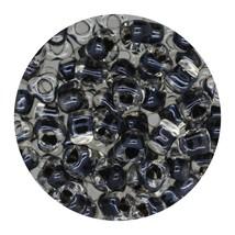 Glass Triangle Bead 5/0 Japan  Sparkle Dark Grey Lined - $7.94
