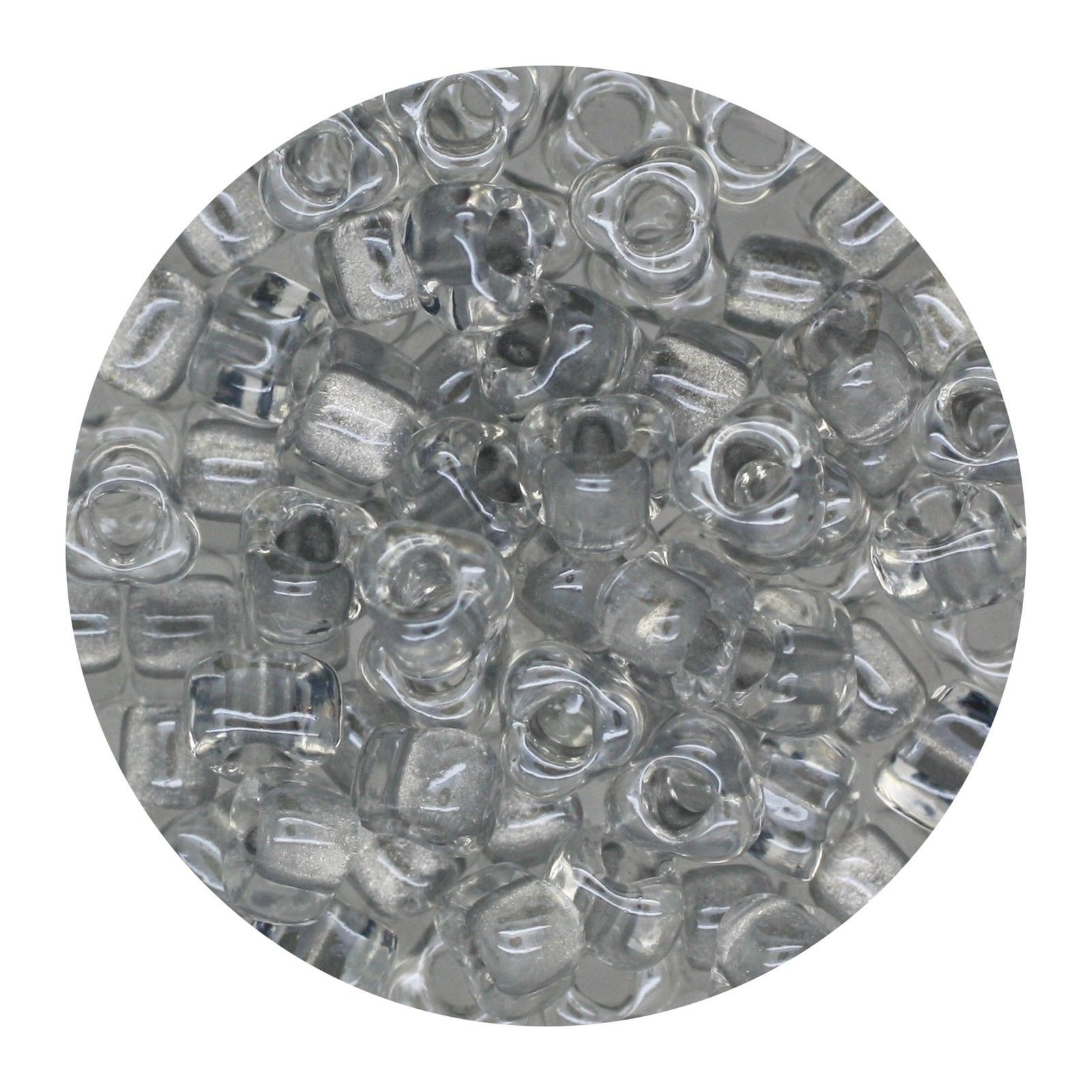 Glass Triangle Bead 5/0 Japan  Silver Lined Dark Crystal - $7.94
