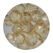 Faceted Fire Polish Beads Czech Glass 8mm Honey Decora - $7.94