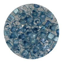 Glass Triangle Bead 5/0 Japan  Light Blue Lined Crystal - $7.94