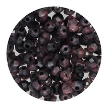 Faceted Fire Polish Beads Czech Glass 4mm Gray Pink Ombre - $7.94