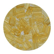 Flat Rectangle Bead Glass 3x5mm Czech Transparent Light Topaz - $7.94