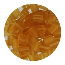Flat Rectangle Bead Glass 3x5mm Czech Transparent Matte Topaz - $7.94