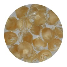 Faceted Fire Polish Beads Czech Glass 8mm Crystal Caramel Ombre - $7.94
