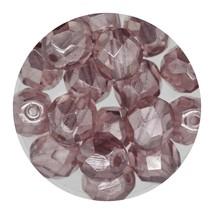 Faceted Fire Polish Beads Czech Glass 8mm Luster Light Amethyst - $7.94