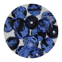 Faceted Fire Polish Beads Czech Glass 8mm Black Sapphire Ombre - $7.94
