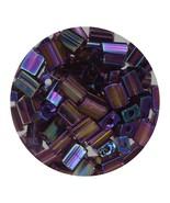 Flat Rectangle Bead Glass 3x5mm Czech Transparent Iris Amethyst - $7.94