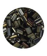 Flat Rectangle Bead Glass 3x5mm Czech Opaque Brown Iris - $7.94