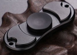 Black Creative Fidget Spinner EDC Hand Toy Metal Focus ADHD FREE SHIP - $7.69