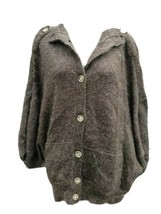 Banana Republic Cardigan Sweater Brown Button up Alpaca Wool Blend Women... - $31.49
