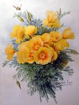 Still life of yellow bunch of flowers by Paul De Longpre Accent Tile Mur... - $15.00