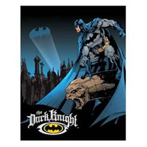 D.C. Comics Batman The Dark Knight Figure Tin Sign LIGHT SCRATCHED - $4.99