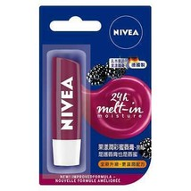 NIVEA Fruity Shine BLACKBERRY 24h Melt in Moisture Tinted Lip Balm 4 8g NEW - $7.28