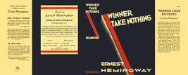 Ernest Hemingway-Facsimile dust jacket for Winner Take Nothing 1st edition - $21.56