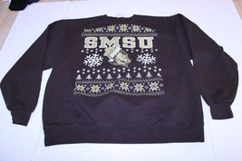 Men's Southwest Minnesota State Mustangs XL Christmas Crew Sweatshirt (B... - $18.49