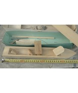 Rare Antique USSR Russian Soviet  Battle Ship Wood DIY Model Kit For Beg... - $38.60