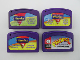 Lot of 4 Leap Frog LeapPad Phonics Short Vowel Cartridges for Ages 4-7 - $7.91
