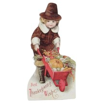 "CC Home Furnishings 6"" Glitter Pilgrim Child Harvest Wagon Autumn Sign D... - $6.67"